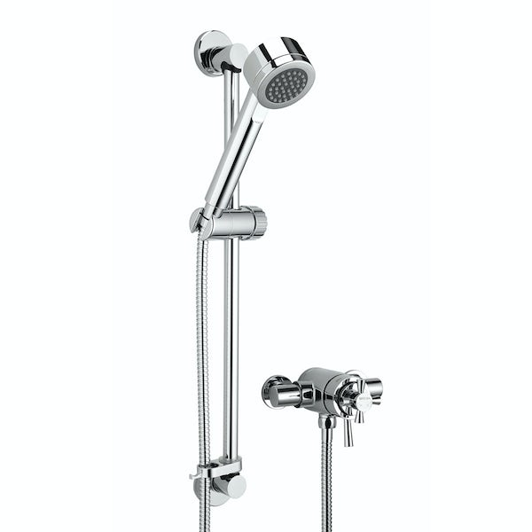 Bristan Rio concentric thermostatic shower valve with slider rail kit
