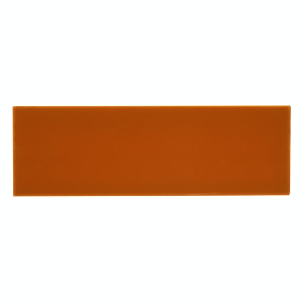 Zenith orange flat gloss wall tile 100mm x 300mm