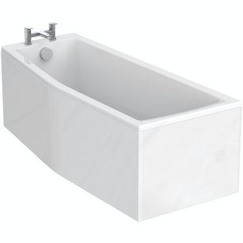 Ideal Standard Concept Space left handed shower bath 1700 x 700