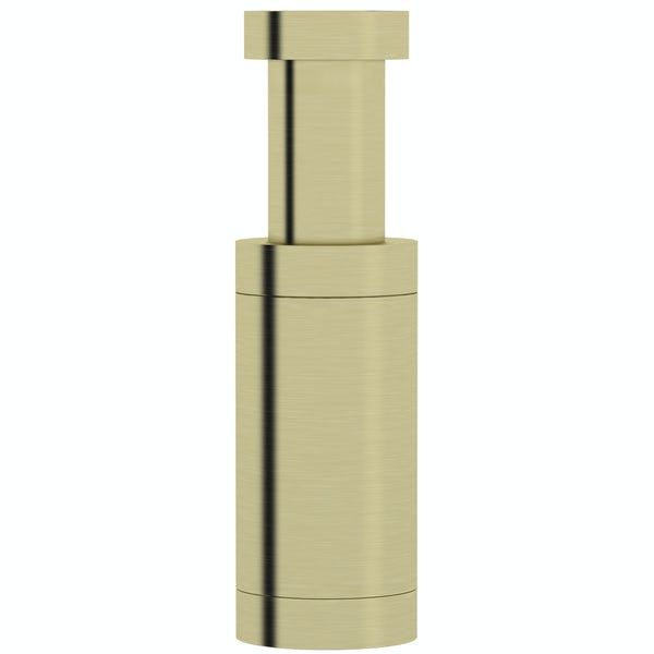 Mode Spencer wall hung basin brushed brass bottle trap