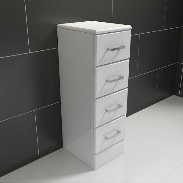 Sienna White Multi Drawer Unit 330