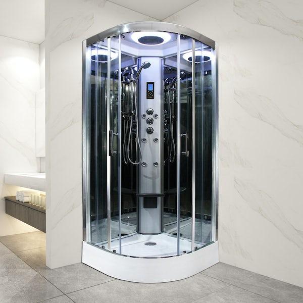 Insignia Premium quadrant shower cabin with clear glass