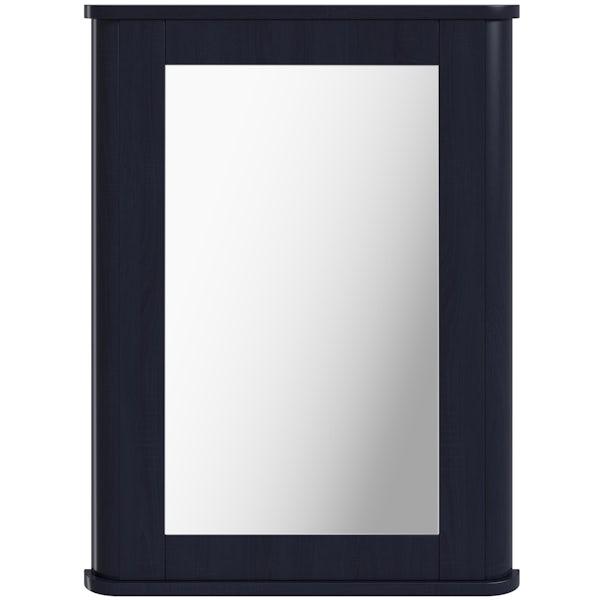The Bath Co. Beaumont sapphire blue mirror 780 x 490mm