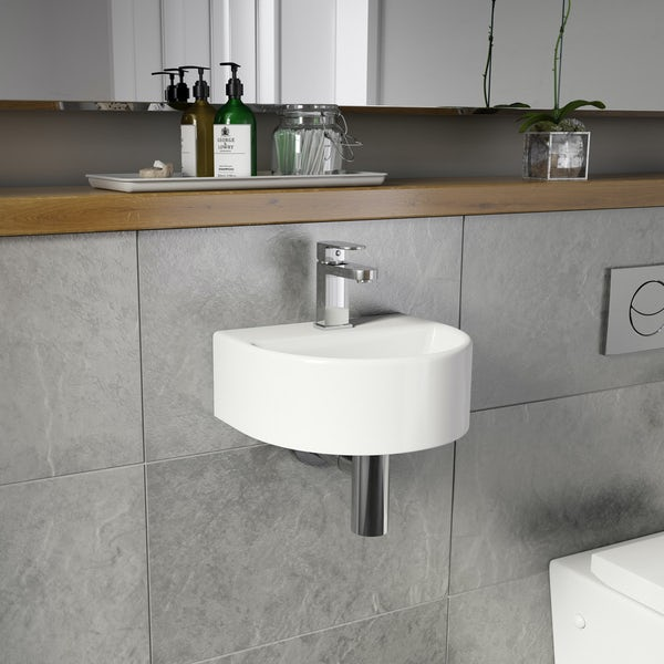 Orchard Pichola 1 tap hole wall hung basin 310mm with tap