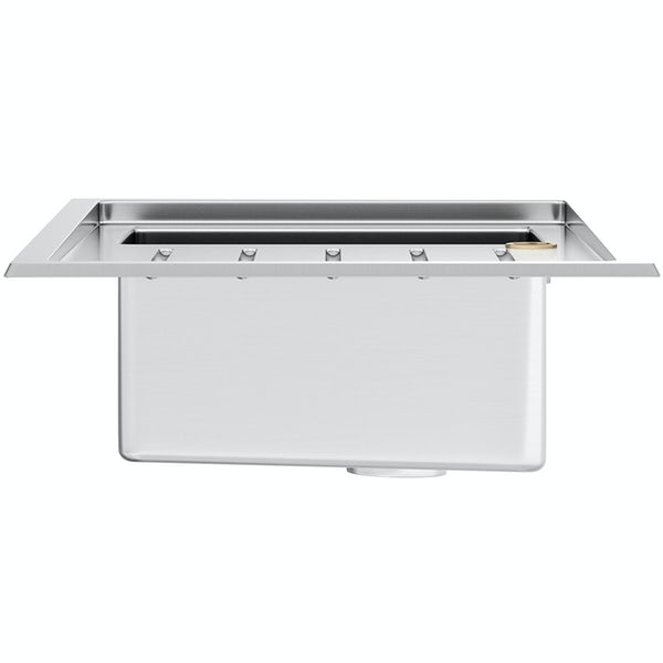 Tuscan Arezzo brushed steel 1.0 bowl right handed kitchen sink