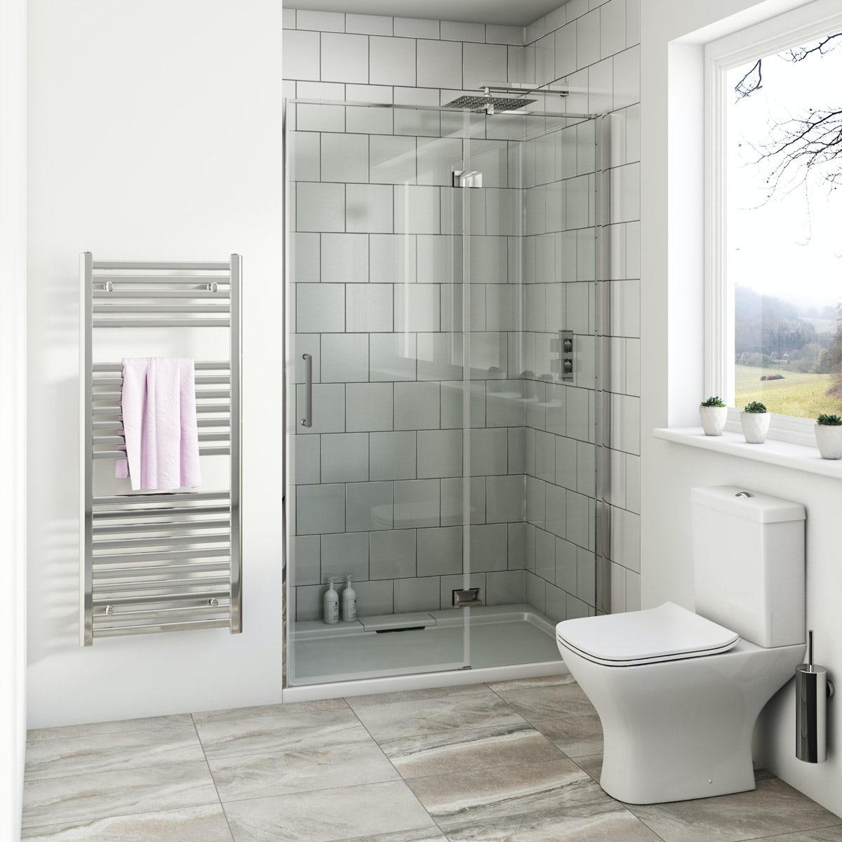 Mode Austin Premium 8mm Hinged Easy Clean Shower Door 900mm