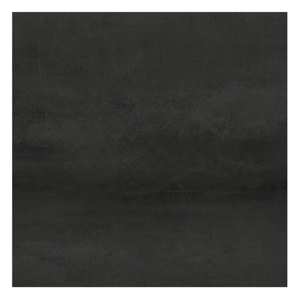 Amadeus black stone effect matt wall and floor tile 600mm x 600mm