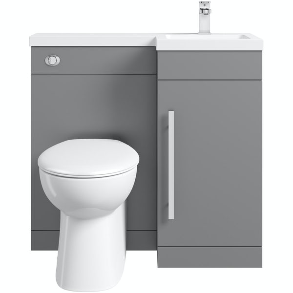 Orchard MySpace slate matt grey right handed combination unit with Clarity back to wall toilet