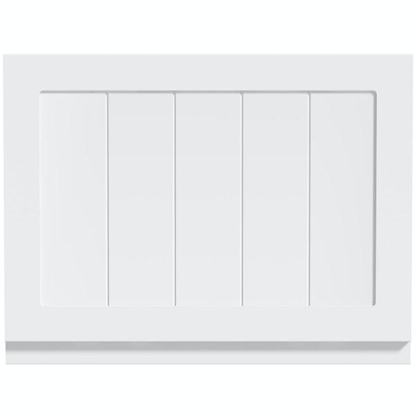 The Bath Co. Dulwich matt white wooden bath end panel 700mm
