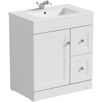 The Bath Co. Winchester white  vanity unit and basin 760mm