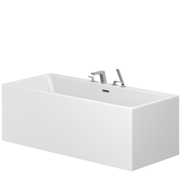 Mode Cooper freestanding bath & tap pack with Carter bath shower mixer