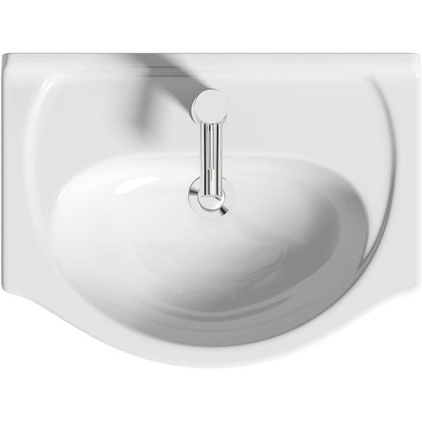 Orchard Elsdon white floorstanding vanity unit and ceramic basin 550mm