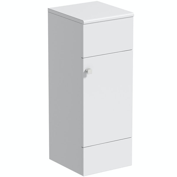 The Bath Co. Hatfield white 1468mm combination with traditonal back to wall toilet and soft close seat