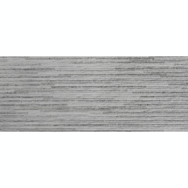 Drift grey textured stone effect matt wall tile 200mm x 500mm