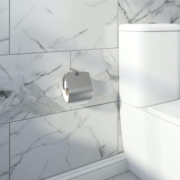 Accents round contemporary 4 piece main bathroom accessory set