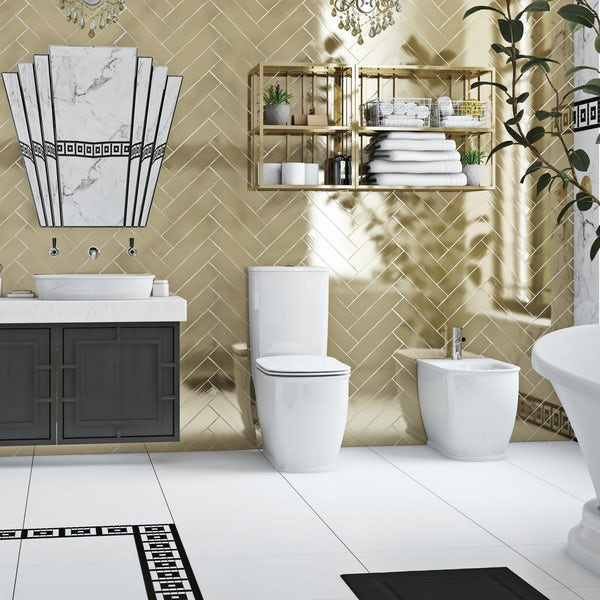 The Bath Co. Beaumont close coupled toilet with soft close seat