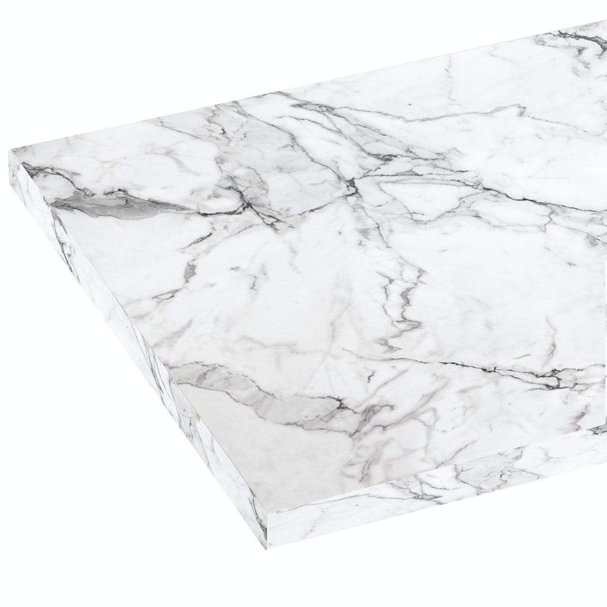 Mode Nouvel white marble laminate worktop 1.5m