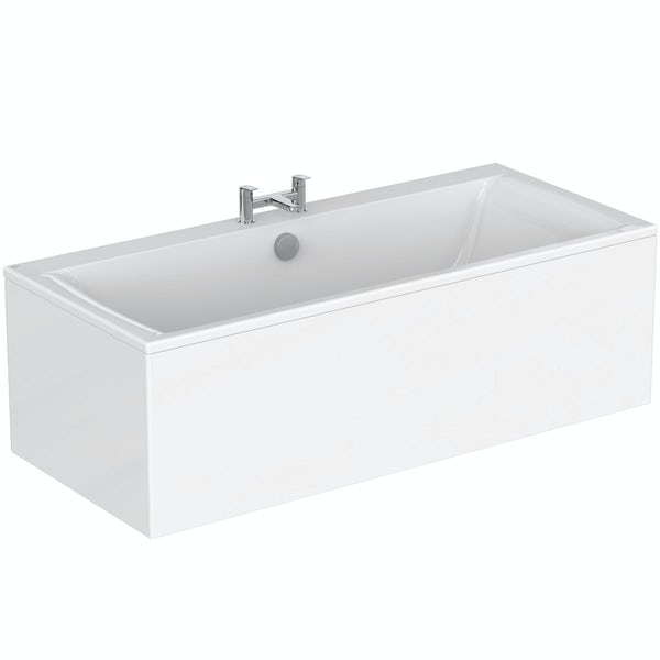 Ideal Standard Concept Air double ended rectangular straight bath and front panel 1700 x 750