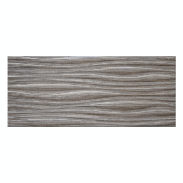 Birch dark grey linear wood effect structured gloss wall tile 250mm x 600mm