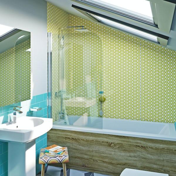 Showerwall Custom Retro acrylic shower wall panel