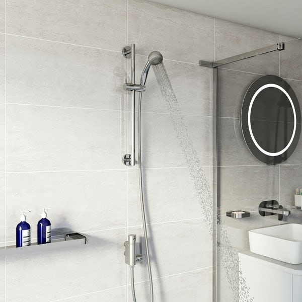 Orchard Vertical thermostatic slider rail mixer shower