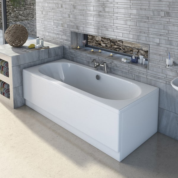 Orchard round edge double ended bath