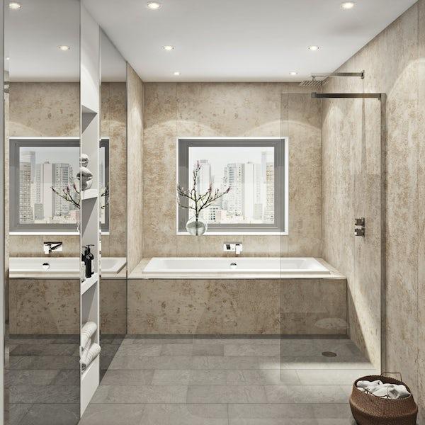 Multipanel Linda Barker Stone Elements Hydrolock shower wall panel