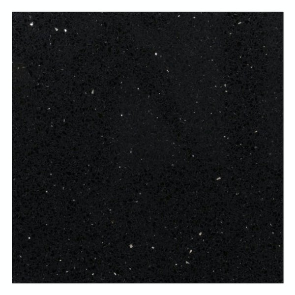 Galaxy black quartz wall and floor tile 600mm x 600mm