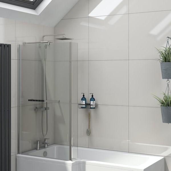 Cadiz light grey flat gloss wall and floor tile 600mm x 600mm