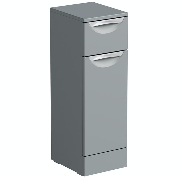 Orchard Elsdon stone grey slimline storage unit 300mm