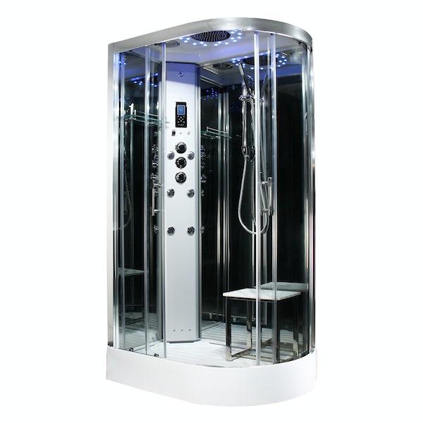 Insignia Platinum offset quadrant left handed hydro-massage shower cabin 1100 x 700