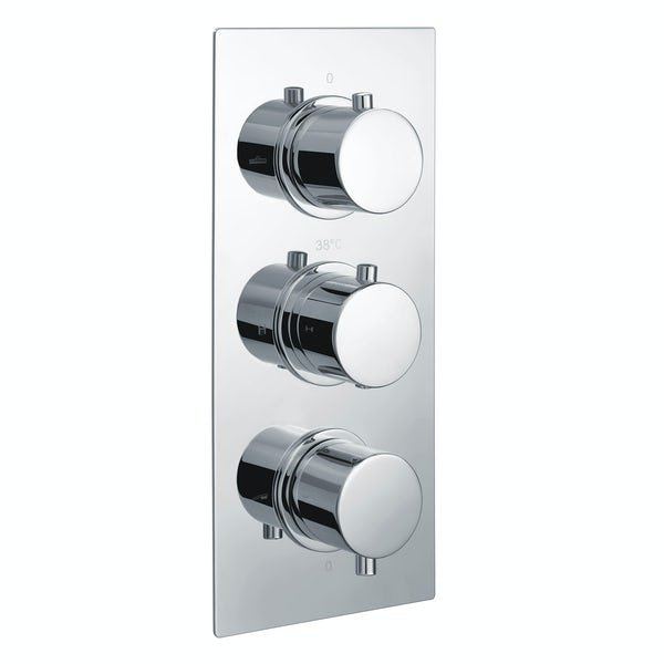 Kirke Curve triple thermostatic shower valve with diverter