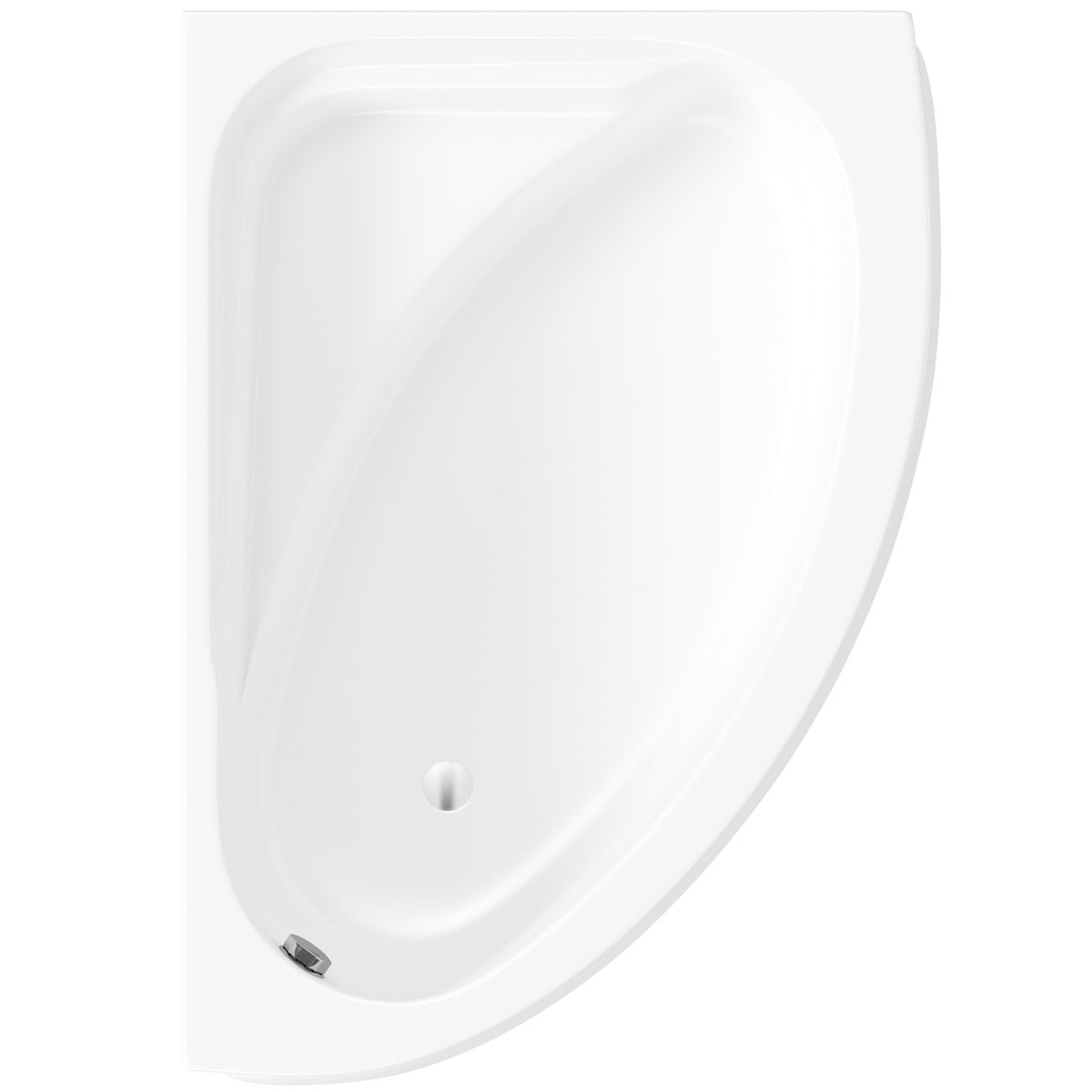 Orchard Elsdon right handed offset corner bath 1500mm