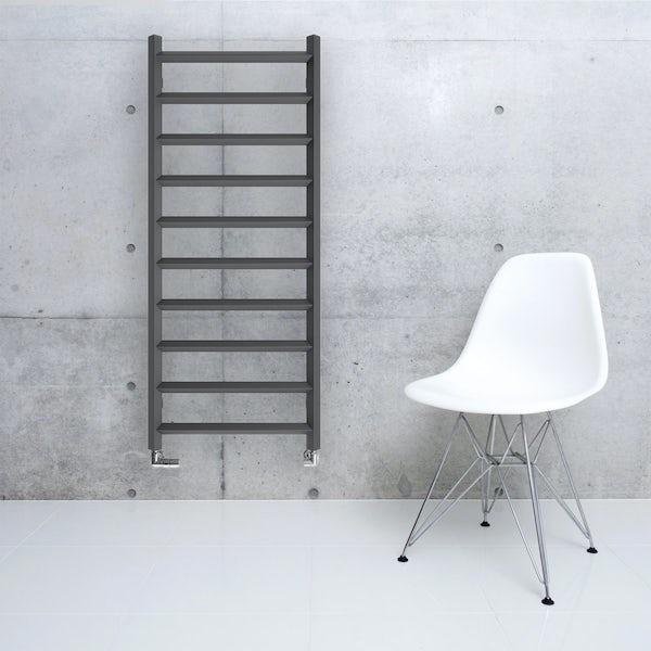 Terma Crystal modern grey designer towel rail