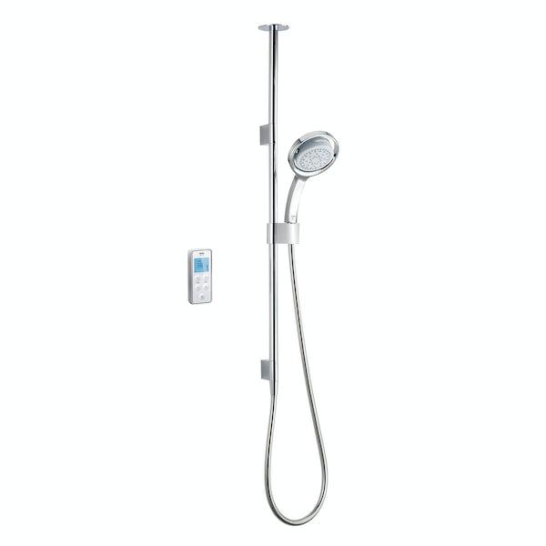 Mira Vision ceiling fed digital shower pumped