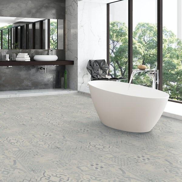 Faus Blue Tile moisture resistant click flooring 8mm