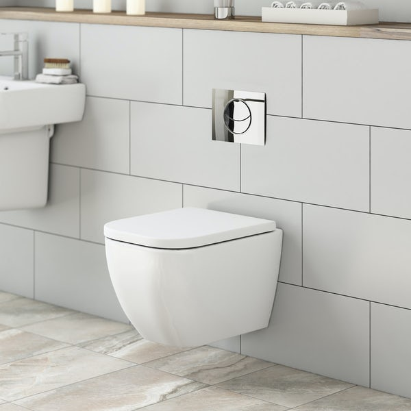 Mode Ellis Short Projection Wall Hung Toilet With Soft
