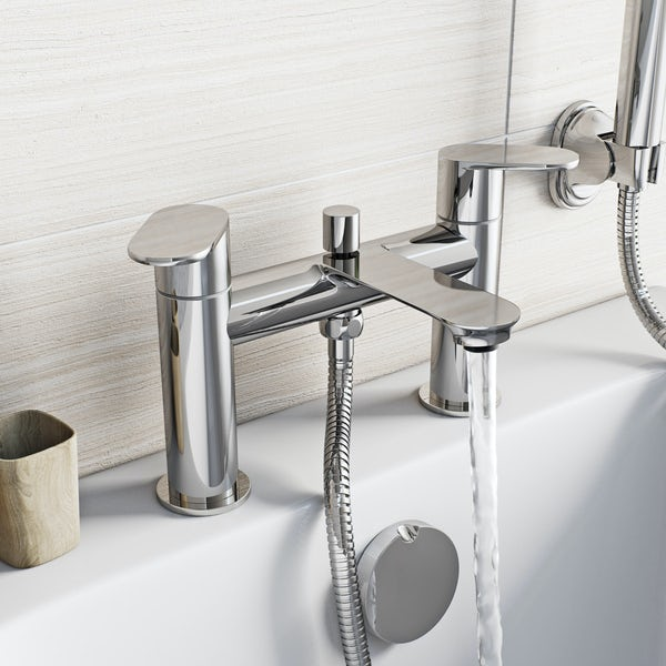 Orchard Wharfe basin and bath shower mixer tap pack