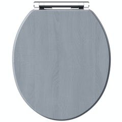 Main image for The Bath Co. Beaumont powder blue wooden toilet seat