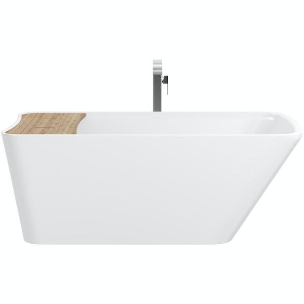 Mode Foster freestanding bath & tap pack with Austin bath filler