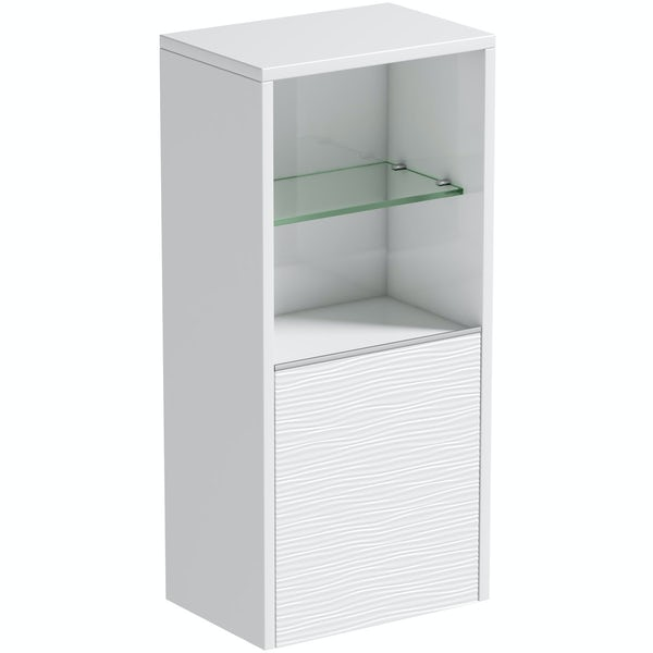 Mode Banks textured matt white wall storage unit 330mm