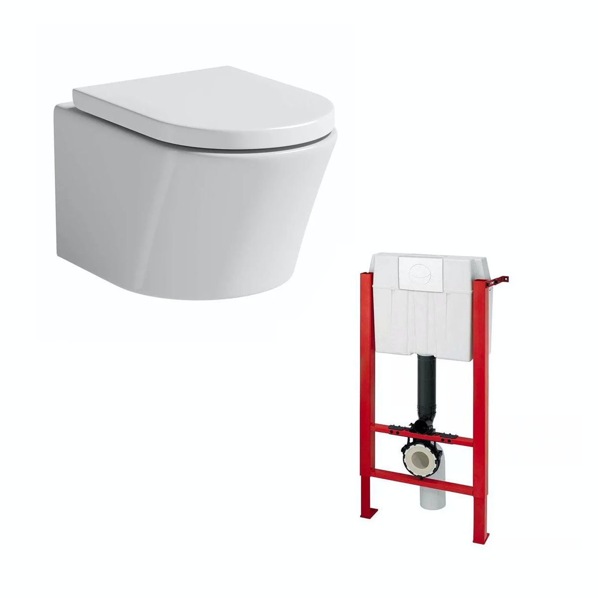 Mode Tate Wall Hung Toilet With Soft Close Seat And Wall