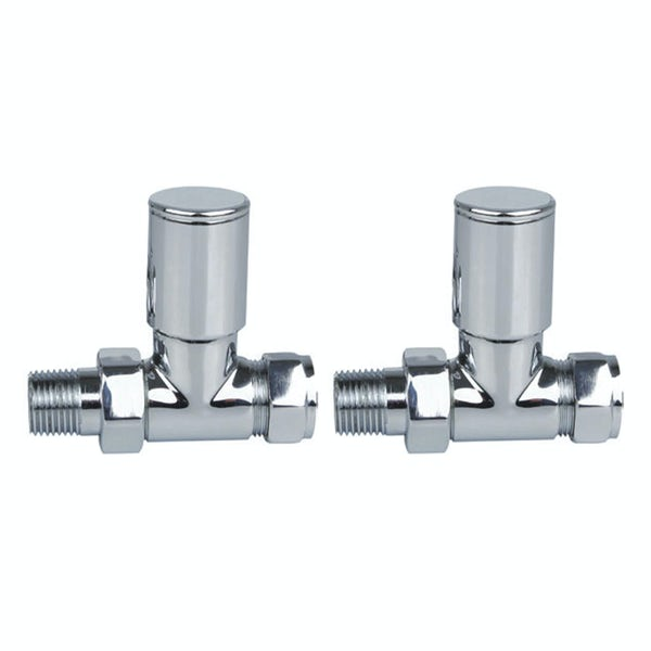 Reina Portland chrome straight radiator valves