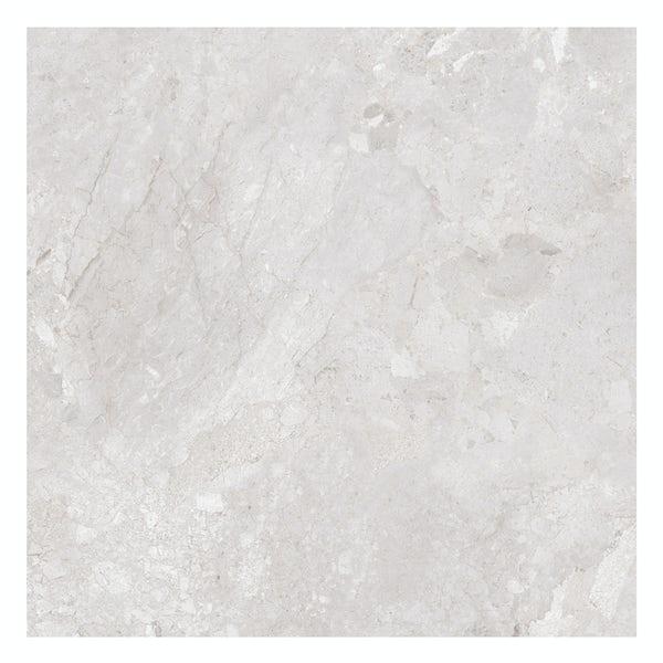 British Ceramic Tile Flint HD white gloss floor tile 498mm x 498mm