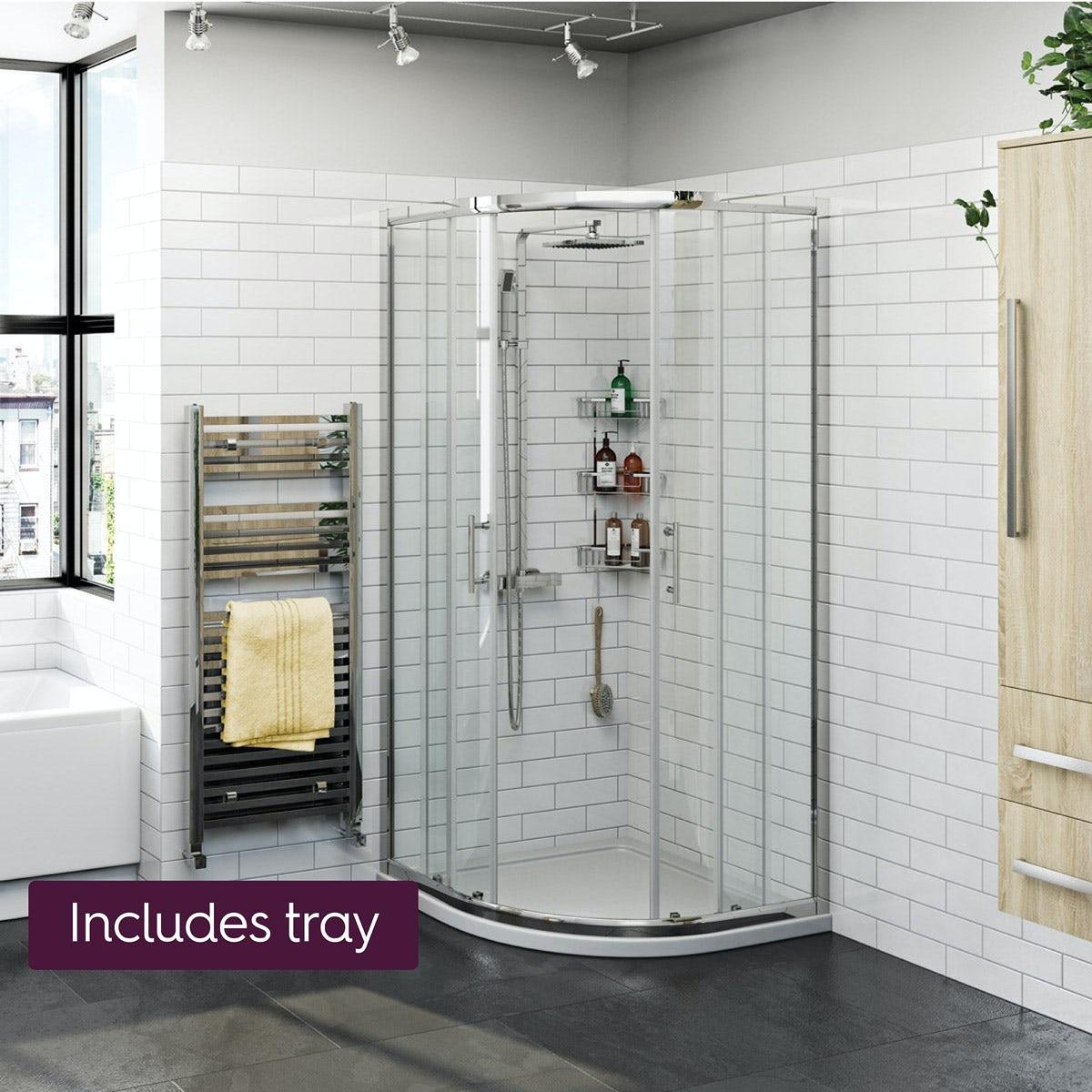 Orchard Elsdon Quadrant Shower Enclosure With Shower Tray