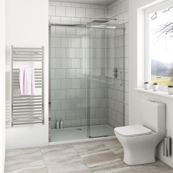 Mode Harrison 8mm easy clean sliding shower door offer pack