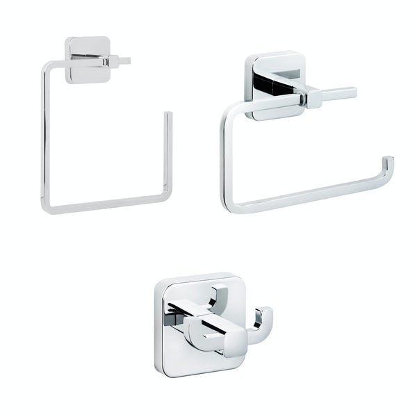 Croydex Camberwell cloakroom 3 piece accessory set