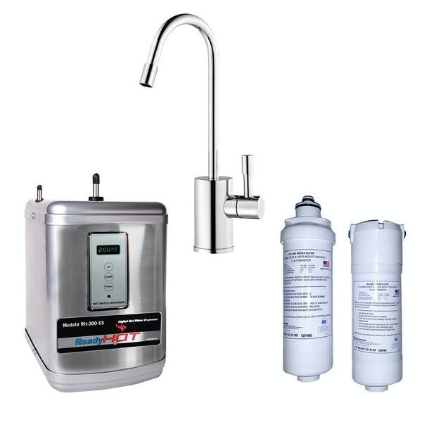 Ready Hot One way boiling water tap with digital boiler