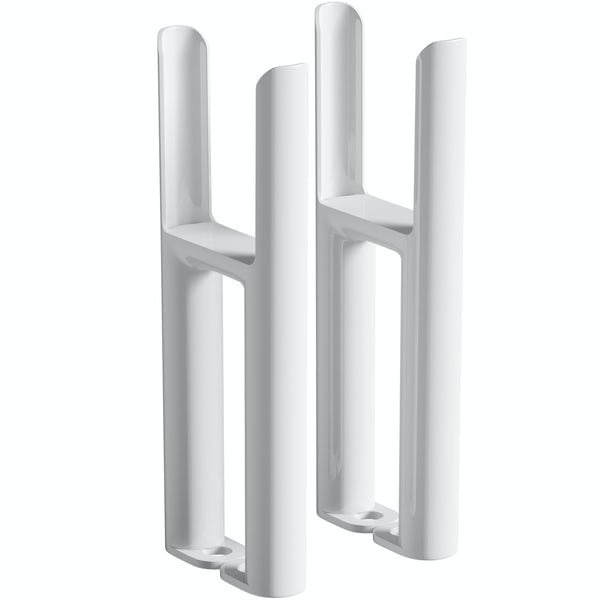 Clarity white 3 column radiator feet