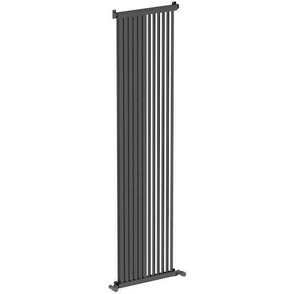 Mode Zephyra anthracite grey vertical radiator 1800 x 468